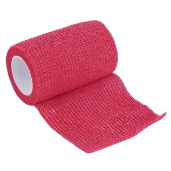 GOOD Self-Adhering Bandage Wraps Elastic Adhesive First Aid Tape4.5m x 7.5cm Red (Intl)
