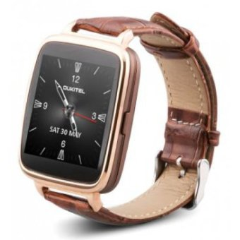 OUKITEL A28 IP53 Waterproof Bluetooth Smart Watch Smartphone Mate Call Music Reminder Anti-lost for ios android Heart Rate Pedometer Sleep Monitor (Gold) - Intl