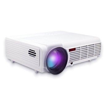 Welink 2015 Newest Home LCD Projector-Full HD TV Beamer 3000Lumens Dual HDMI/USB/AV/VGA/YPbPr/TV Input (White) (Intl)
