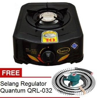 harga Quantum Kompor Gas 1 Tungku QGC 101R - Hitam + Gratis Quantum Selang Regulator QRL-032 Lazada.co.id