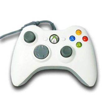White Wired USB Cable Controller for Microsoft Xbox 360 Console PC Computer Video Game (Intl)