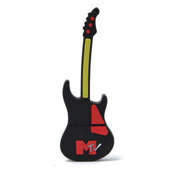 8GB USB2.0 Rock Guitar Model Flash Memory Stick Storage Thumb Pen Drive U Disk Black - Intl