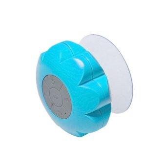 Wireless Bluetooth Handsfree Waterproof Mic Suction Mini Speaker Shower Car Blue