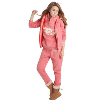 Female Sports Set 3 Pieces Pink (Intl)