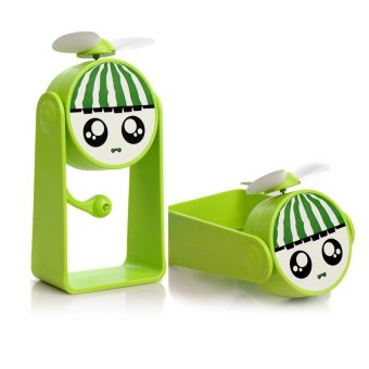 Bao Usb Charging T Tranches Lovely Fruit Mini Fan (Green) - Intl