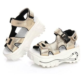 Women Lady Girls Fashion Sandals, Summer Casual Shoes, Flat Shoes(Gold) - Intl