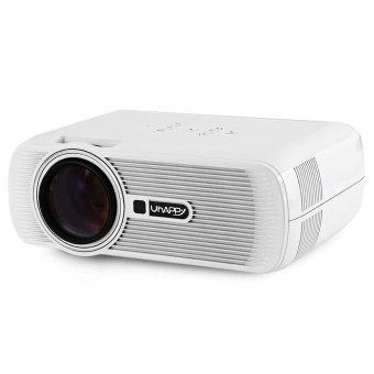 Uhappy U80 LCD Projector 1080P 1000LM 800 x 480 Pixels with AV / Audio / HDMI / VGA / USB 2.0 / SD Card Slot (White US Plug) (Intl)