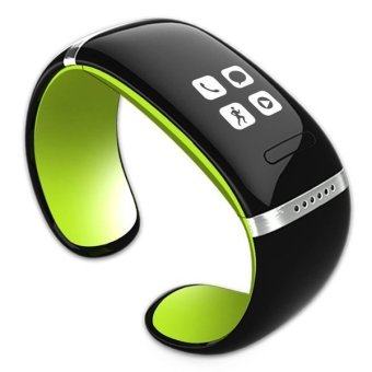 OLED Watch and Sports Pedometer Bluetooth Bracelet with Call ID Display / Answer / Dial / SMS Sync / Music Player / Anti-lost for Samsung / HTC + More (Green) - Intl