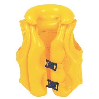 Cocotina Safety Baby Kids Float Swimming Aid Life Jacket Inflatable Swim Beach Vest For 3-6 Years (Yellow)- Intl