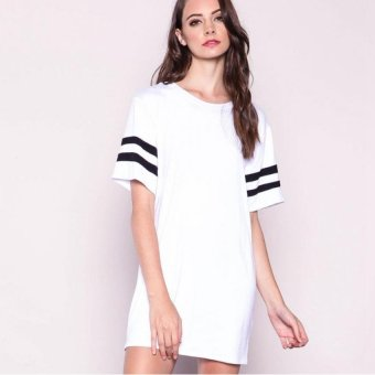 Fashion Women's Loose Short-sleeved Baseball T-Shirt - Intl