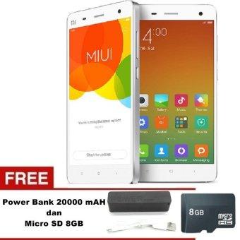 Xiaomi Mi 4 4G - 2GB - 16GB - Putih + Free MMC 8GB +Powerbank 20000mAh