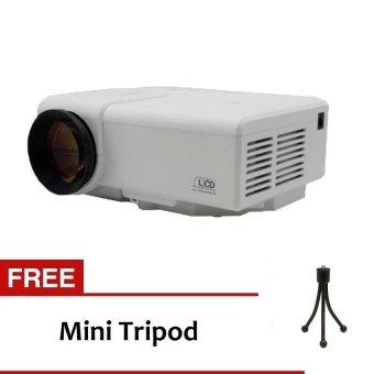 TiFo M3 Portable LED Digital Video Projector With TV turner Full HD 1080P - Putih + Free Mini Tripod