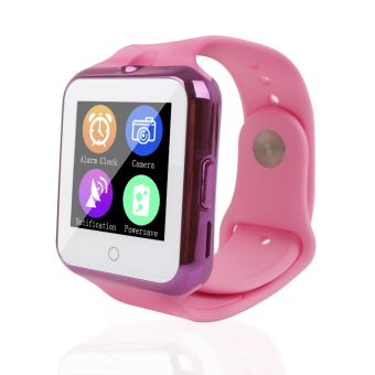 Smart Bluetooth Watch C88 Sync Notifier Support SIM TF Card Camera (pink) (Intl)