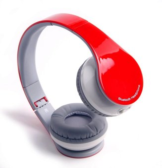 BT513 V4.1 Bluetooth Wireless Foldable Hi-fi Stereo Headphone for Smart Phones & Tablets – Red - Intl