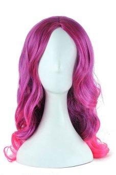 Cosplay Wig Long Mix Color Hair 65CM (Purple Pink)- Intl