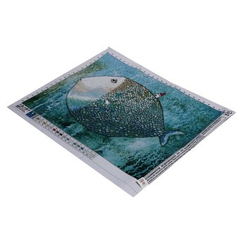 S & F Cotton Threads 3d Print Cross Stitch Kit Fish House Painting Series Home Deco Set