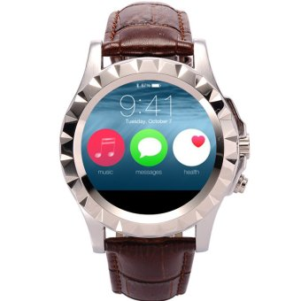 2015 New arrival Bluetooth S2 Smart Watch Smartwatch for apple iPhone /5/5S S4/Note 3 HTC Android Phone Smartphones(Silver Leather) (Intl)