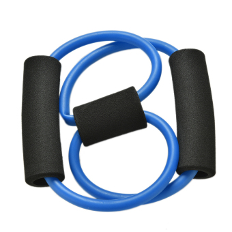 Resistance Training Bands Elastic Yoga Bands 8-Type Tube Fitness Equipment Tool Blue