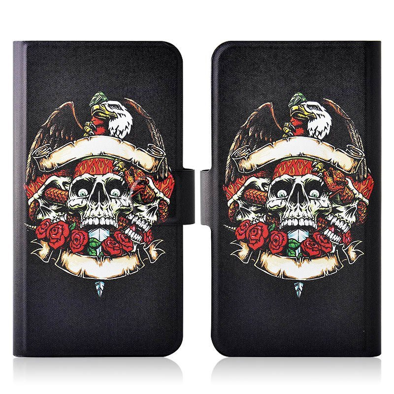 Eagle Skull PU Leather New Flip Case Cover For Haier i860 W860