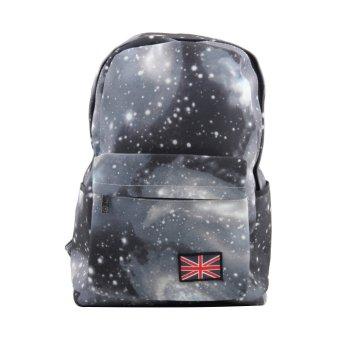 Galaxy Pattern Unisex Travel Backpack Canvas Leisure Bags School bag Rucksack Black