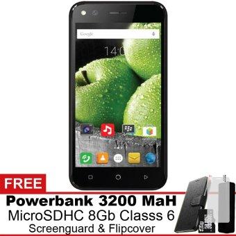 Evercoss Elevate Y3 Plus 4G LTE - 16 GB - Hitam Gratis Powerbank + Micro SDHC 8Gb + Screenguard + Flipcover