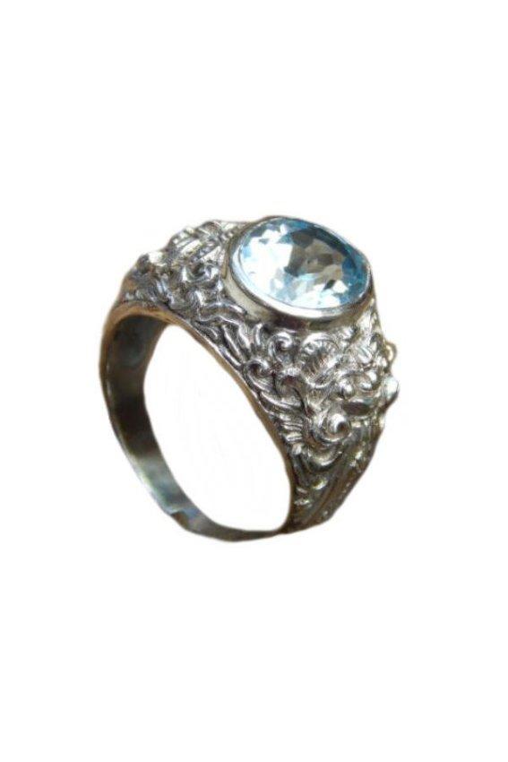 harga Jnanacrafts Cincin Perak Motif Barong Batu Blue Topaz - Silver Lazada.co.id