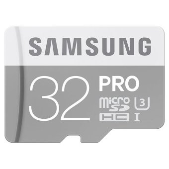 harga Samsung MicroSDHC Pro Memory Card 32GB Class 10 90MB/s with Adapter Card Support Memory HP Blackberry, Nokia, HTC - Silver Lazada.co.id