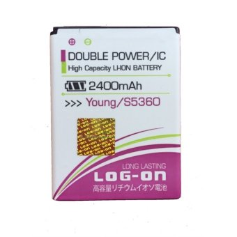 Log On Battery Double Power For Samsung Galaxy Young S5360/Galaxy Chat/Galaxy Pocket terpercaya