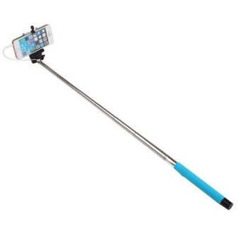 Wired Extendable Selfie Stick Monopod For Samsung S3/S4/S5/HTC/LG - Black (Intl)