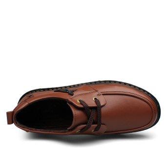 Men's shoes formal shoes low cut shoes casual shoes (brown) - Intl