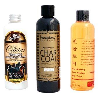 The Caviar - Paket Shampoo + Red Ginseng + Sabun Arang