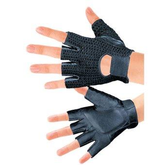 AOXINDA Sport Bike Training Body Cycling Leisure Cycling Half Finger Leather Gloves Fingerless Sport Short Gloves Size M(009) - Black - Intl