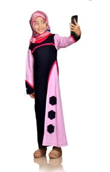 harga Syamsakids Baju Muslim Anak SL090C - Gamis Hijab - Multicolor Lazada.co.id
