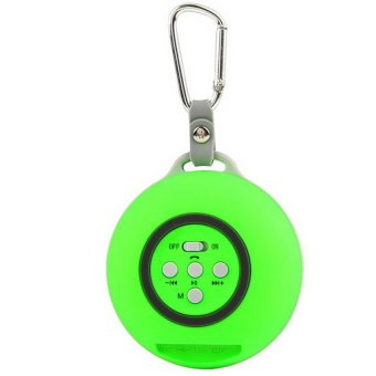 Bluetooth Speaker with Built-in Rechargeable Battery (Green) - Intl