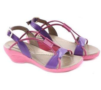 harga Garucci GN 9057 Sepatu Anak Wedges Perempuan - Sintetis - Lucu (Ungu Kombinasi) Lazada.co.id