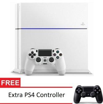 SONY Playstation 4 CUH-1200A B02 - Putih + Gratis Extra PS4 Controller