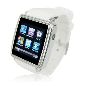 White Touch Screen Bluetooth Sync Smart Watch Mini Phone Camera Anti-lost