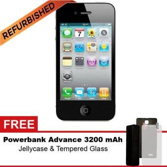 Refurbished Apple iPhone 4S - 32GB - Hitam - Grade A