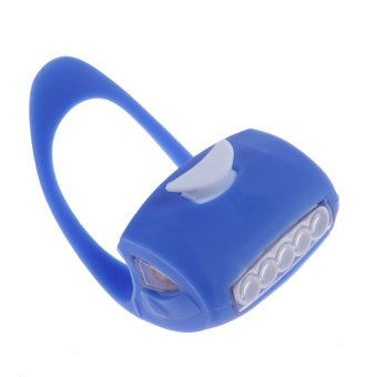 MEGA Cycling 7 Frog Silicone Front Lamp Safety Warning Head light(Blue) - INTL