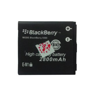Li-ion Baterai Blackberry Em1 Double Power 2800Mah For Blackberry Curve, Apolo, 9360/9350/9370 - Hitam terpercaya