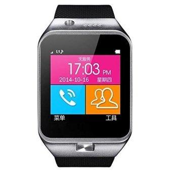 Smart Watches 2015 New Gv09 Smart Watch Phone SIM Card/ Tf Card Wristwatch Cellphones (Silver) (Intl)