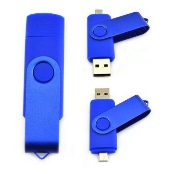8GB U disk Multicolor micro usb Smart Phone USB Flash Drive(Blue) (Intl)