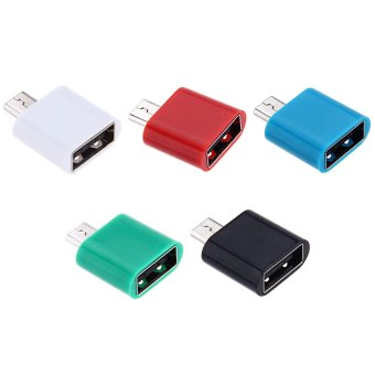 OTG Micro USB Data Sync Charging Adapter Connector (Blue) (Intl)