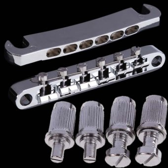 HDL Tune-o-matic Bridge Tailpiece Set for Gibson Les Paul Gear New(Silver) (Intl)