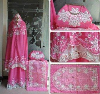 Nuranitex Busana Muslim Muken Susun Bunglon Elegant Terlaris - Pink Fanta