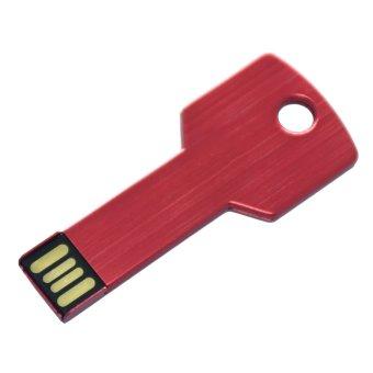 New Rondaful U51 8GB Key Mini Flash Drive Jump Thumb Memory Stick 2.0 USB Red - Intl