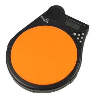 Cherub DP-950 Multi-Function Digital Electric Electronic Drum Pad Metronome Counter for Training Practice (Orange)