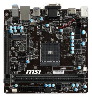 harga MSI AM1I AM1 SATA 6Gb/s USB 3.0 HDMI Mini ITX AMD Motherboard Lazada.co.id