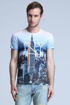 Clothinglovest Short Sleeve Pullover T-Shirt (MultiColor)