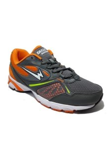Eagle Tiger Sepatu Lari - Dark Grey Orange